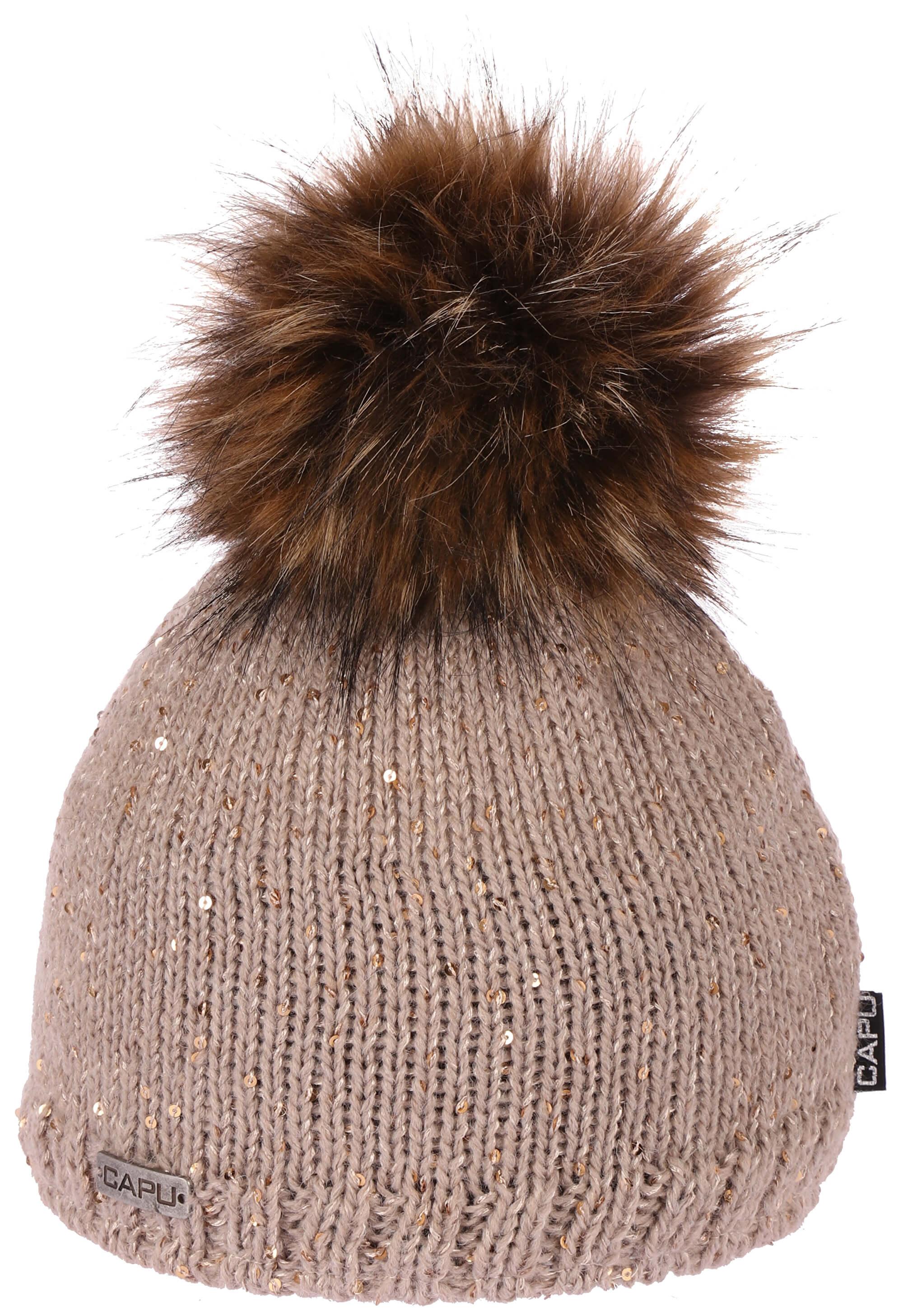 CAPU Zimní čepice 388-C Brown  1d30ca1232
