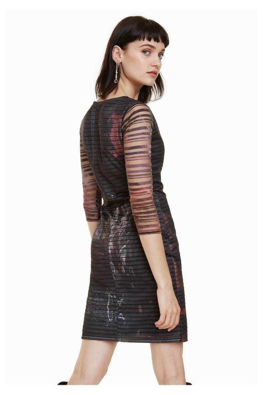 Desigual Dámské šaty Vest Rosa Glam Rosa Glamour 18WWVK67 3044 ... db0639b9dbf