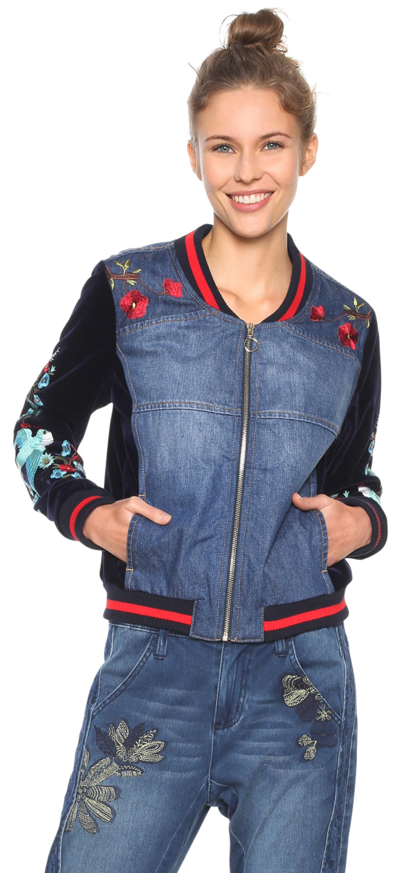 Jachetă pentru femei Chaq Tottori Denim Patch
