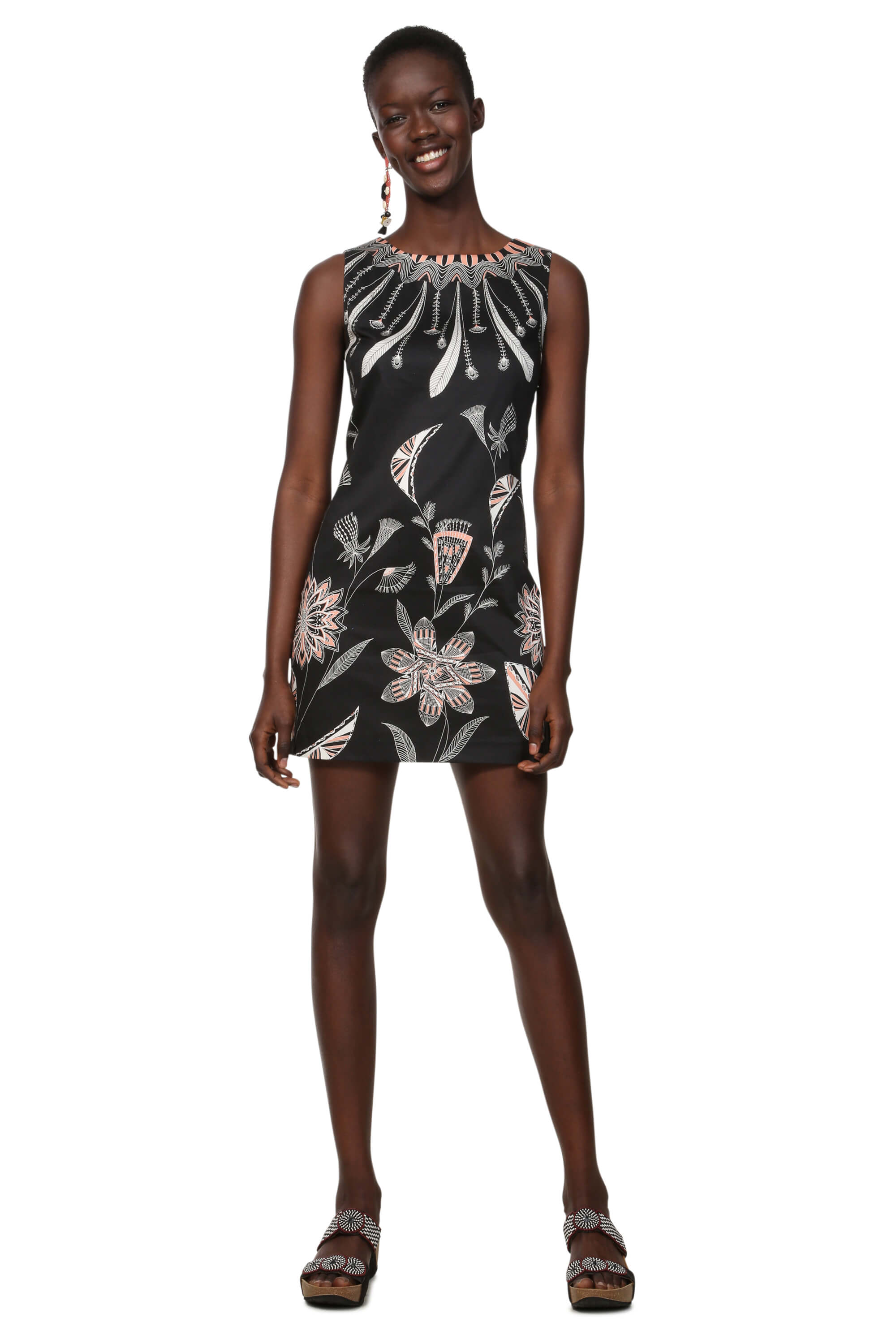 d27a7db1eb4c Desigual Dámske šaty Vest Kira Negro 19SWVWB3 2000 Doprava ZDARMA ...