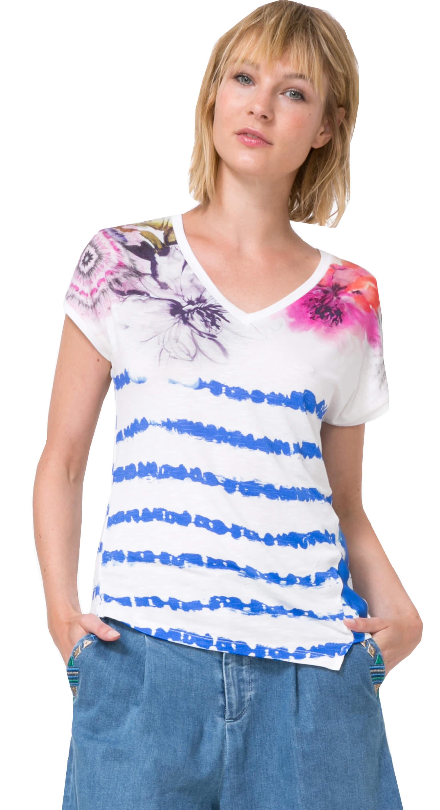 Desigual Dámske tričko TS Cellia 73T2WA2 5001 Doprava ZDARMA ... 15a1a5b3261