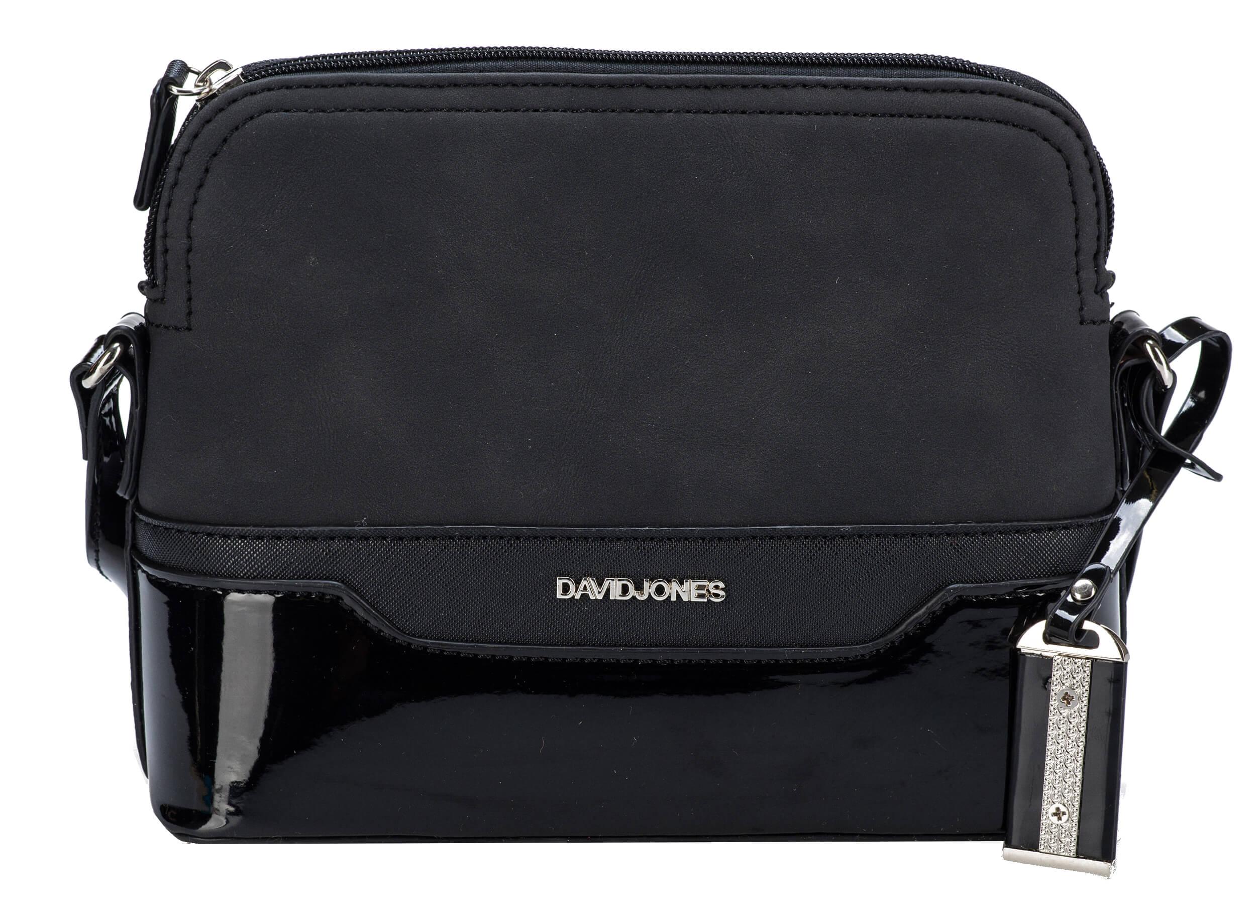 David Jones Dámska crossbody kabelka Black 5808-1  ac684d72fa6