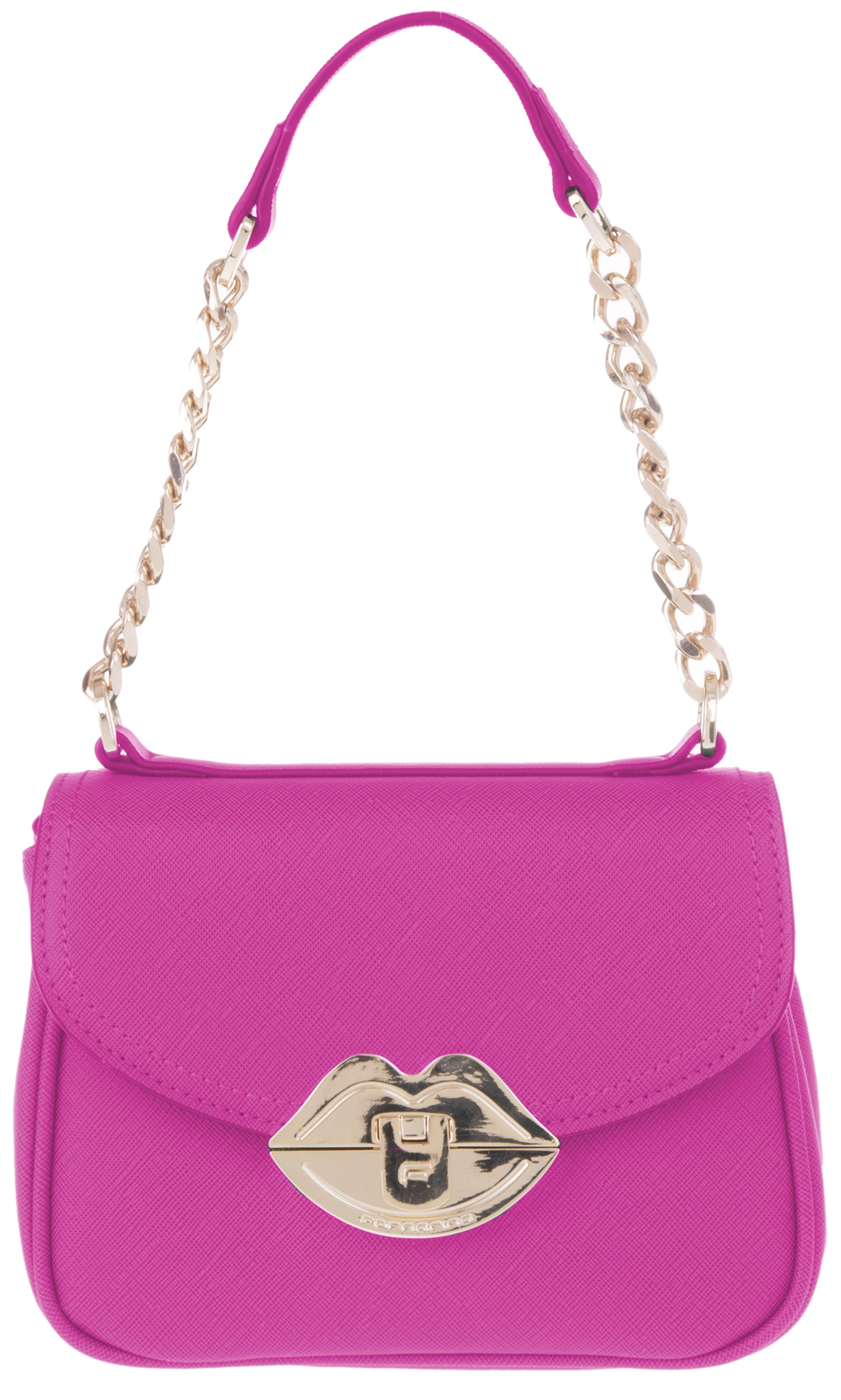 51c4b5b96e34b Fornarina Damentasche Iris Pink Saffiano