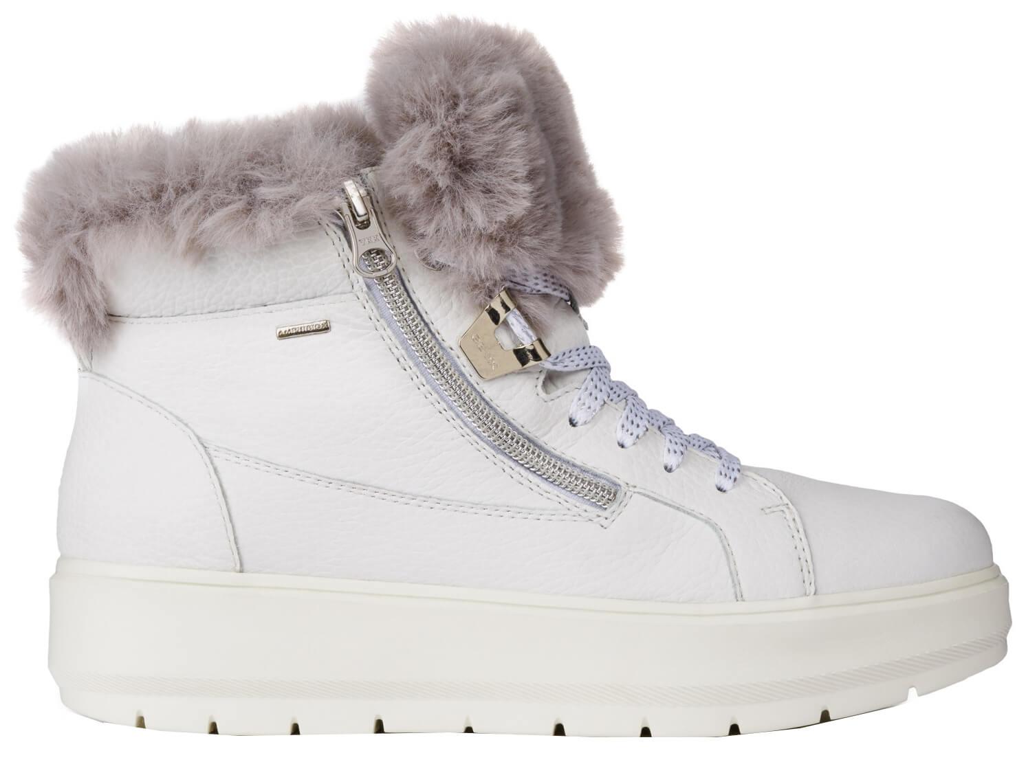 GEOX Dámské kotníkové boty Kaula B Abx D White Dk Grey D84AWD-046BH-C0672 81c2dc3114