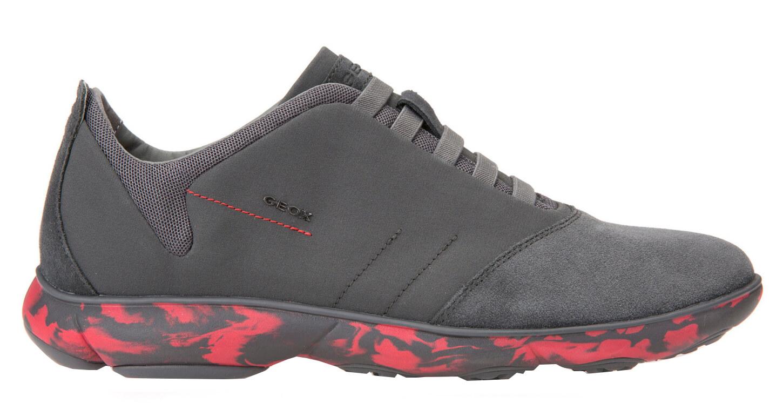 28b0bd1f603 GEOX Pánské sportovní tenisky Nebula B Dk Grey Red U52D7B-01122-C0047