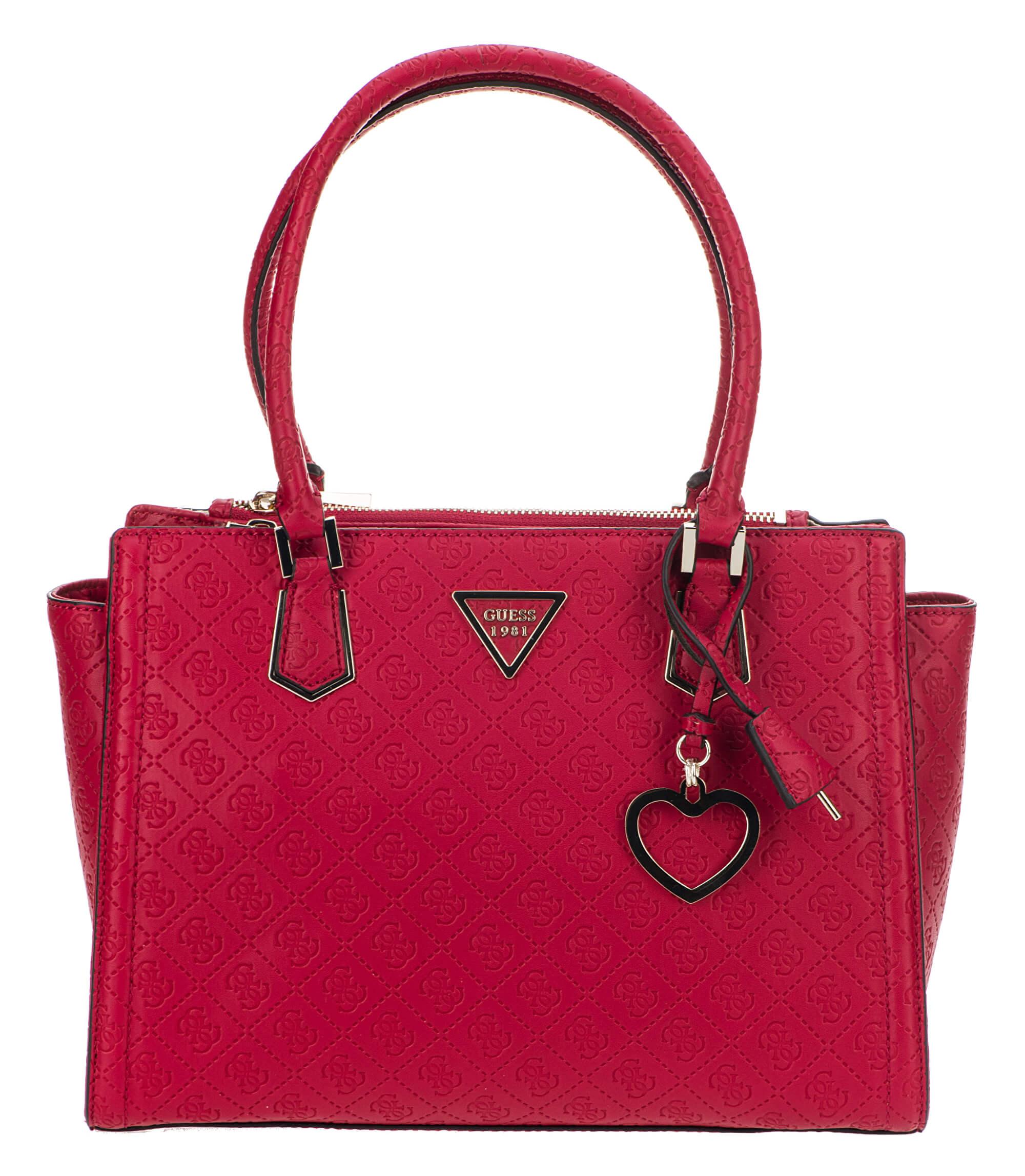 Guess Női táska Lyra Society Satchel HWSG71 Red Ingyenes SZÁLLÍTÁS ... 8841e11ff6