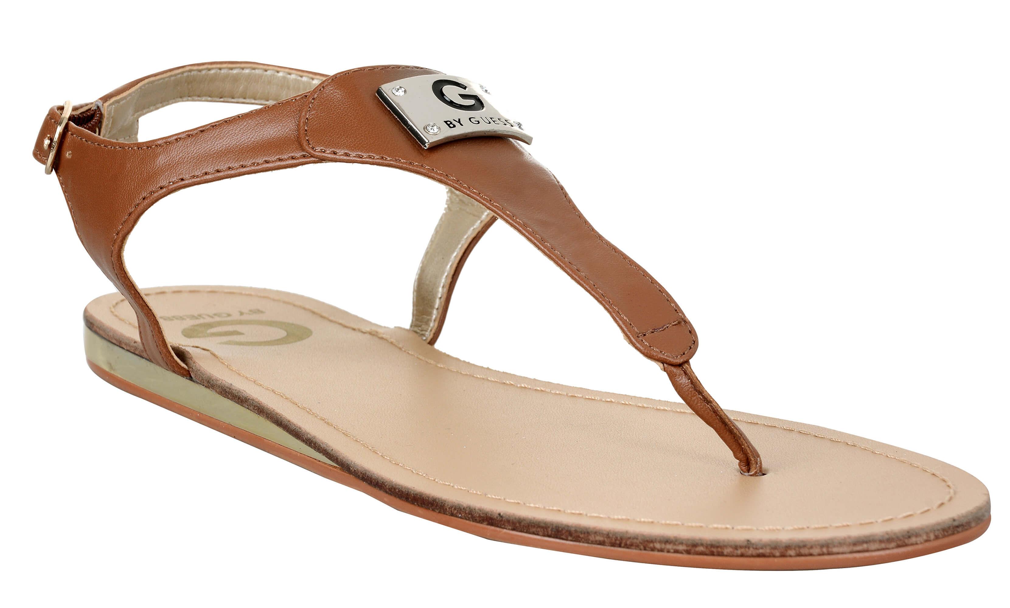 Guess Sandale pentru femei G de Guess Carmela T- Strap Sandals Brown ... a7fa7a77eba