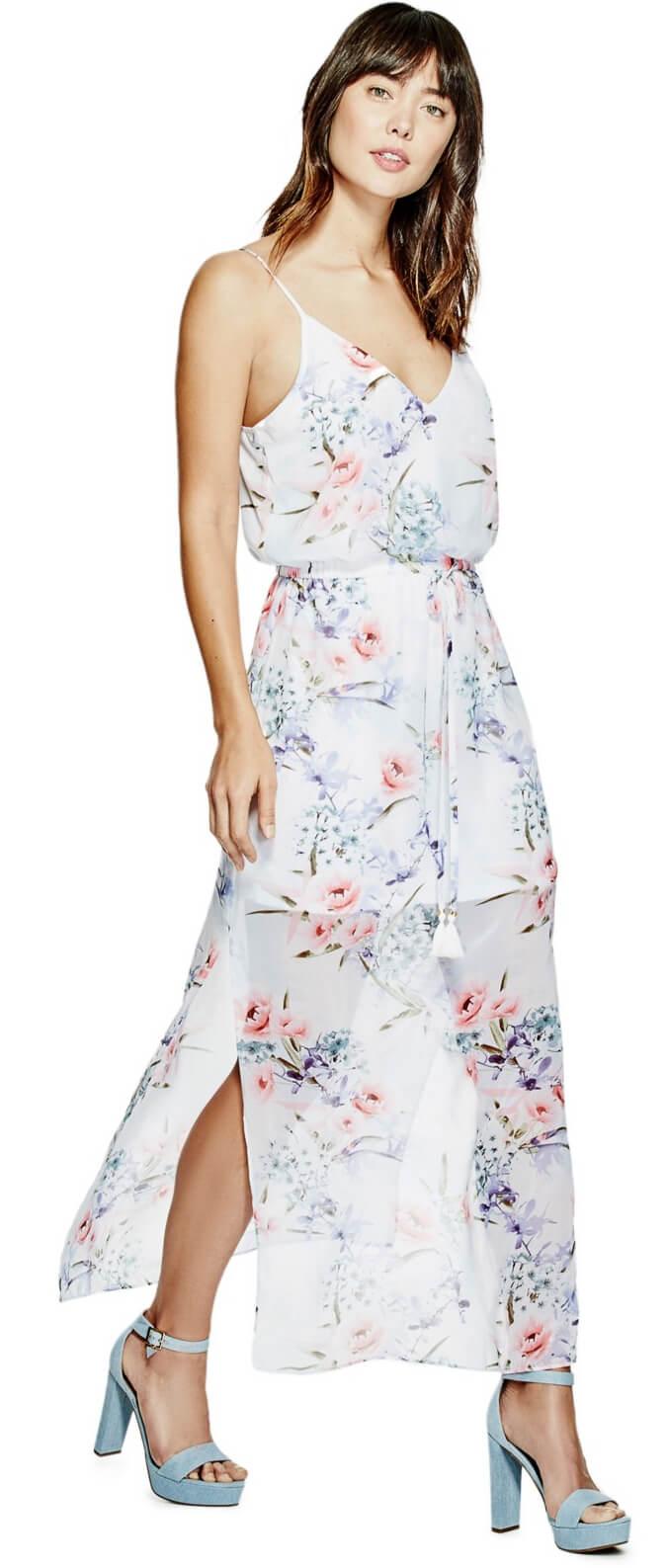 Guess Dámské šaty Laurel Maxi Dress Doprava ZDARMA  11ed7c959b