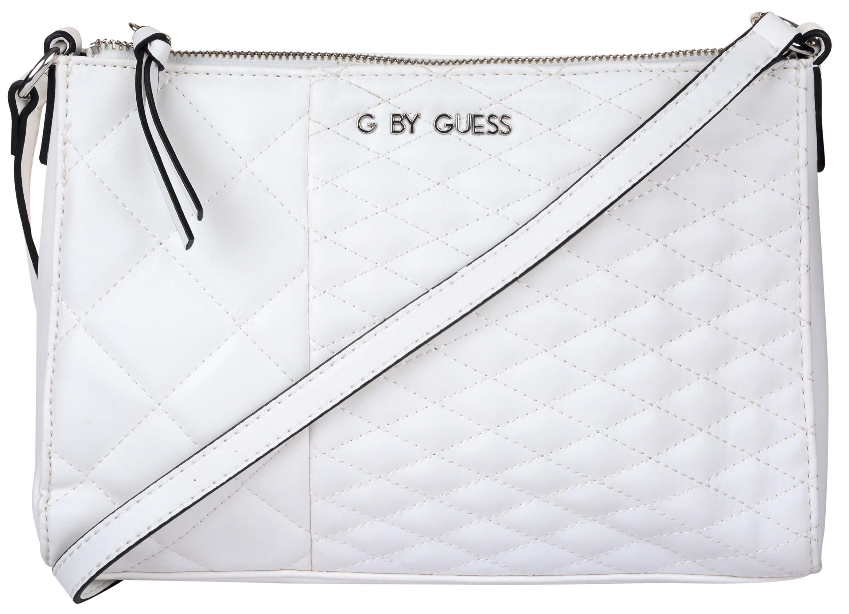 d6f438682 Guess Elegantná kabelka Women`s Blondin Top Zip Crossbody White ...