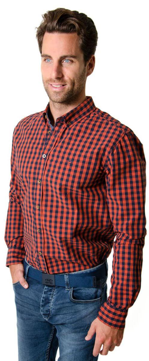 65d8a451e4f8 Heavy Tools Pánska košeľa Reply W16-411 Pumpkin
