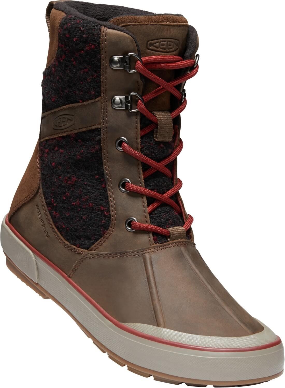 KEEN Dámské zimní boty Elsa II Wool WP Cascade Brown Fired Brick ... 470974e5a8