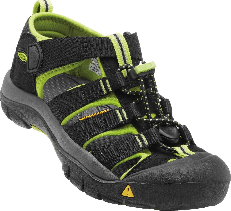 69d05c0f280 KEEN Dětské sandály Newport H2 Black Lime Green JUNIOR ...