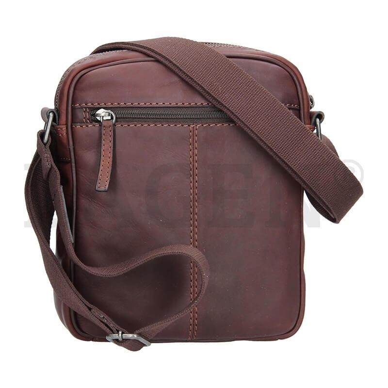 157c363833 Lagen Pánska taška cez rameno 22399 BROWN Doprava ZDARMA