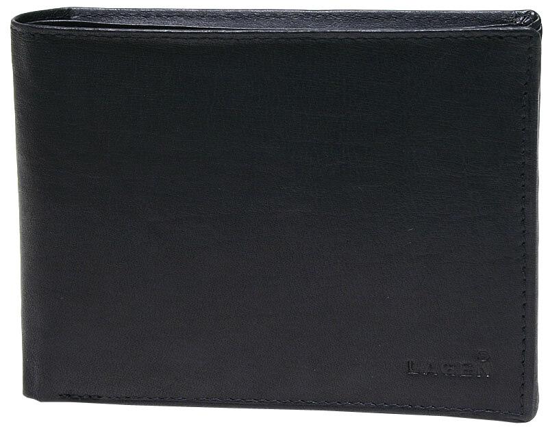 Lagen Pánska čierna kožená peňaženka Black V-73-1  a258735b085