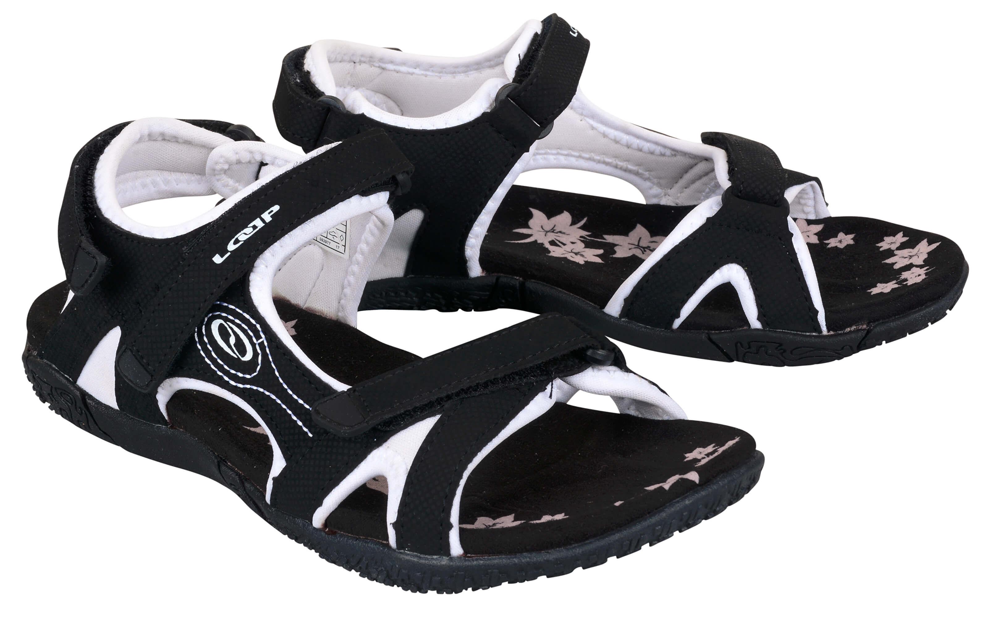 0d2aeaa08ee1 LOAP Dámske sandále Caffa Black Bl de Blanc čierno-biele SSL1758 ...