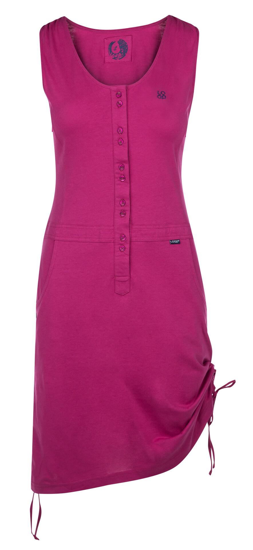 LOAP Dámské šaty Nela Fest Fuchsia CLW1890-J02J  b36f9204b1