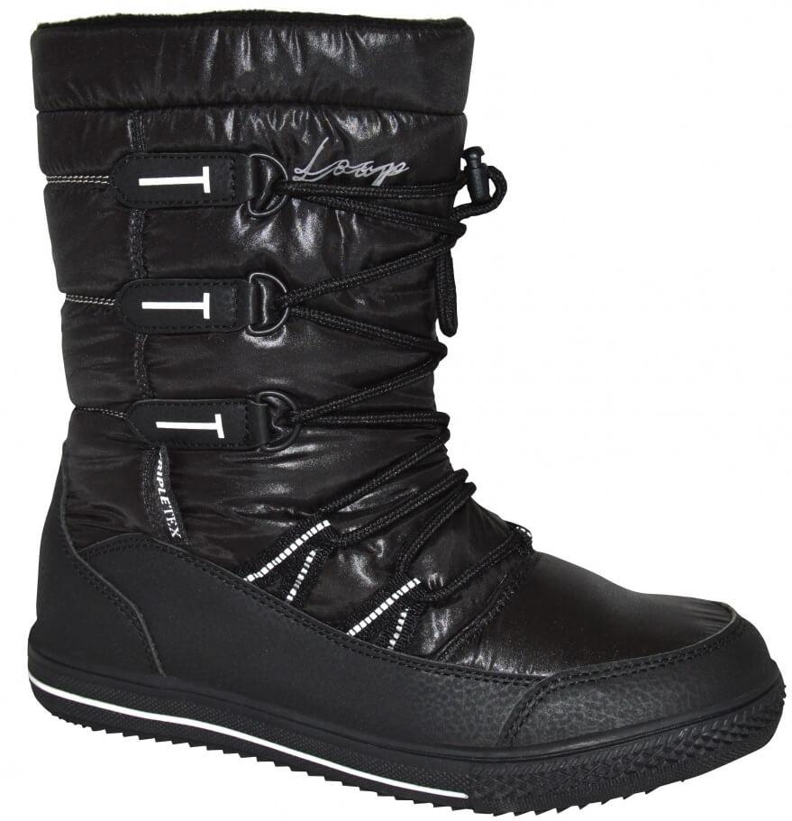 32ca103bc5 LOAP Dámske zimné topánky Joss Black Bl De Blanc SBL1745-V11A ...