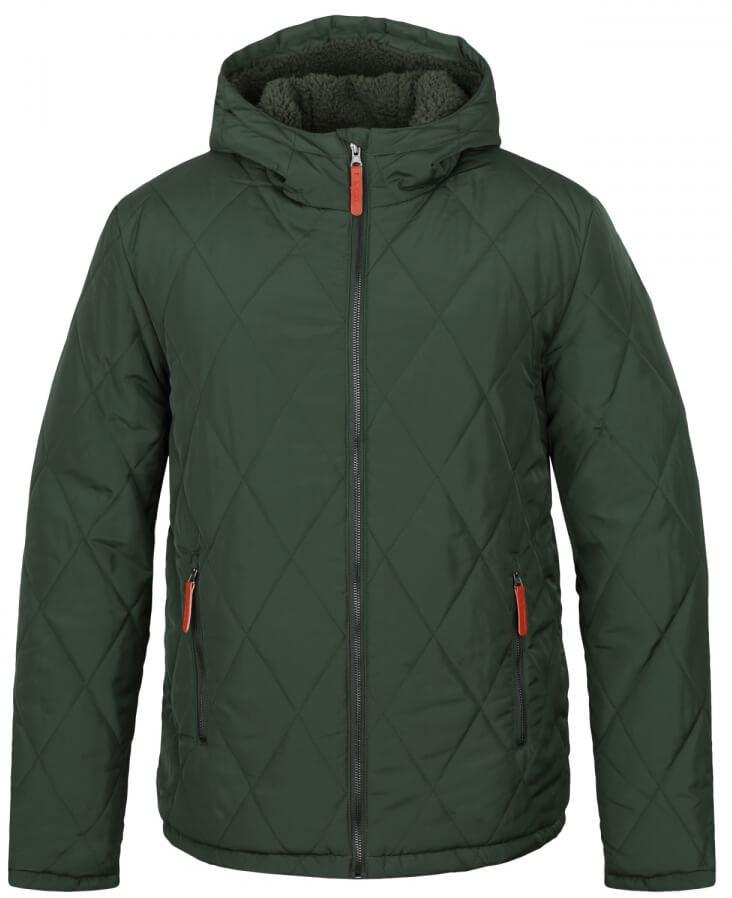 LOAP Pánska zimná bunda do mesta Tote m Kom Green zelená CLM1741-P18P 9dacd19c3cd
