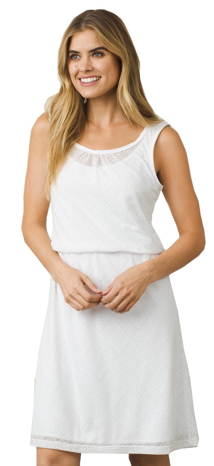 Prana Dámské šaty Mika Dress White Copa  6a79f1716e1