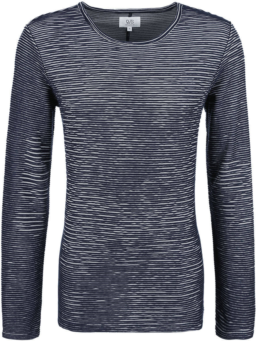 06cbb0c1425a Q S designed by Pánské modré triko s dlouhým rukávem