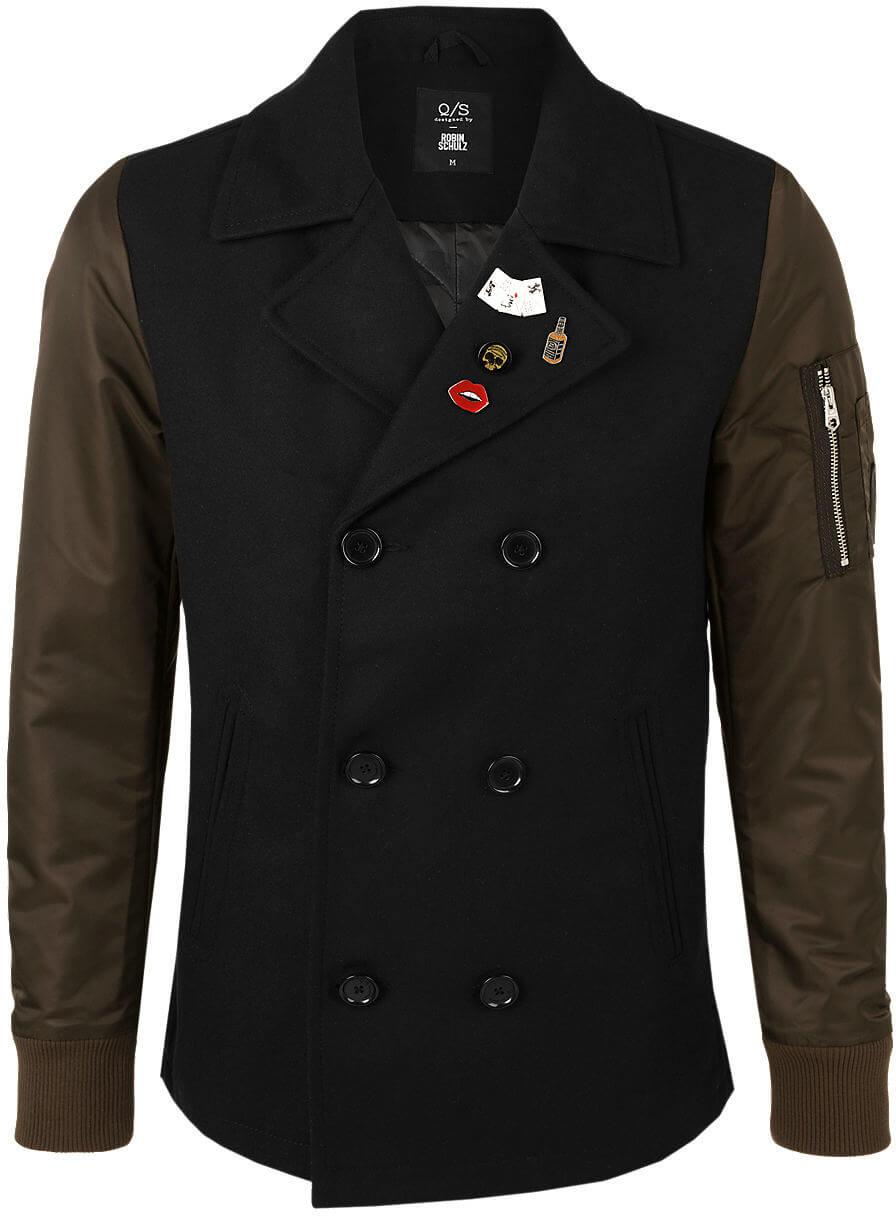Q S designed by Pánský kabát 40.709.52.4768.9999 Black Doprava ... 5ae1f5c706