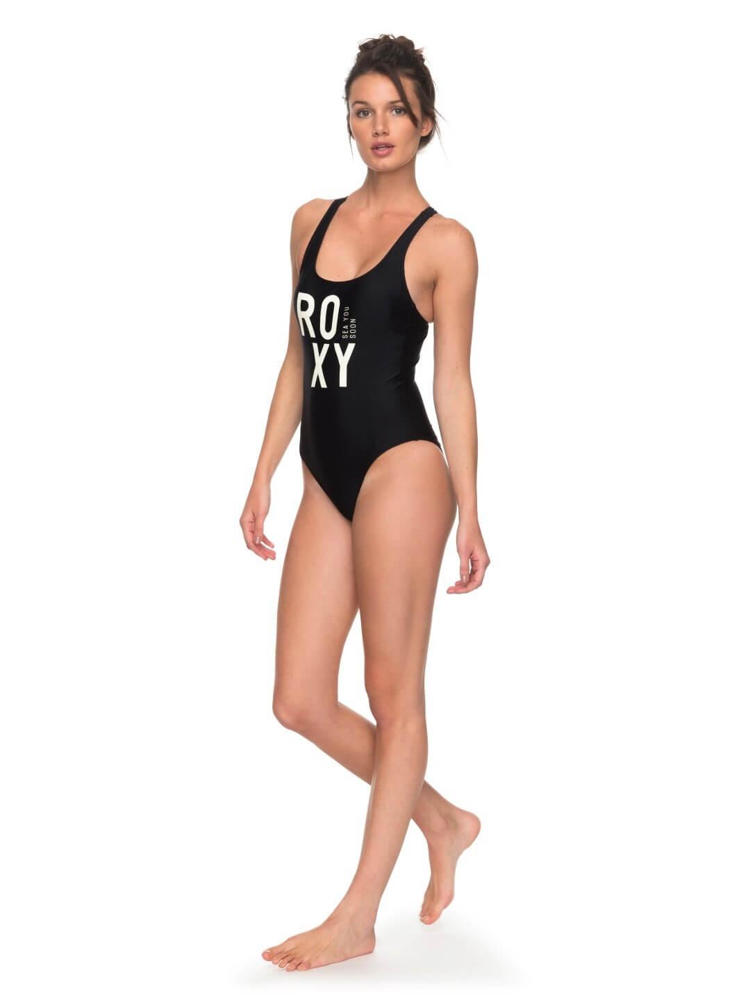 41ddd70c2d8 Roxy Jednodílné sportovní plavky Roxy Fitness One Piece Anthracite ...