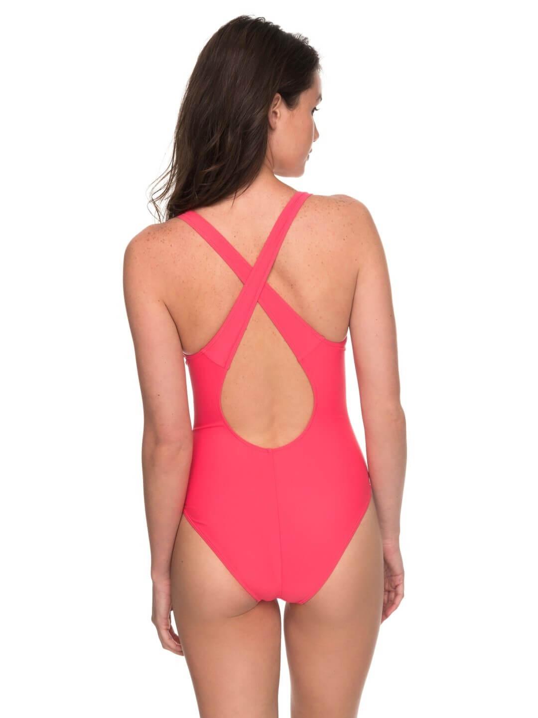 169f0812495 Roxy Jednodílné sportovní plavky Roxy Fitness One Piece Rouge Red ...