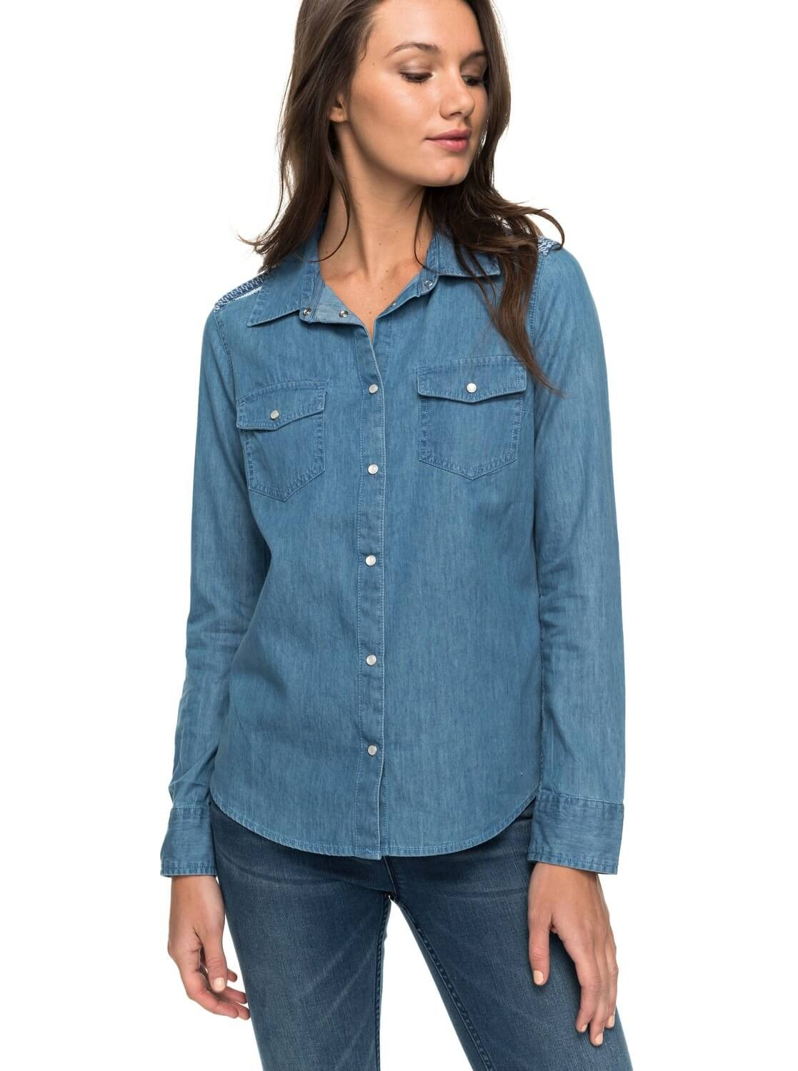 b08de135252 Roxy Dámská košile Light Of Down Long Sleeve Chambray Shirt ERJWT03157-BMTW