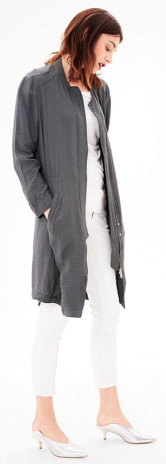 S.Oliver Dámsky dlhý šedý kabát Doprava ZDARMA  d1674e71c40