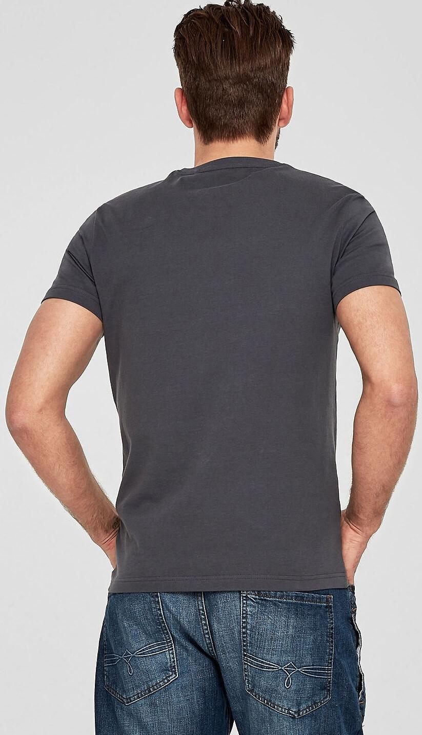 ac85d533b363 S.Oliver Pánske tričko 13.803.32.2651.9581 Volcano Grey