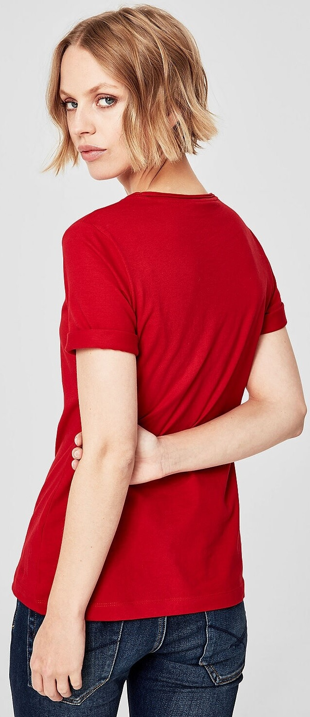 S.Oliver Női póló 14.810.32.2796.3187 Poppy piros. Előző  Következő   88369f75d1