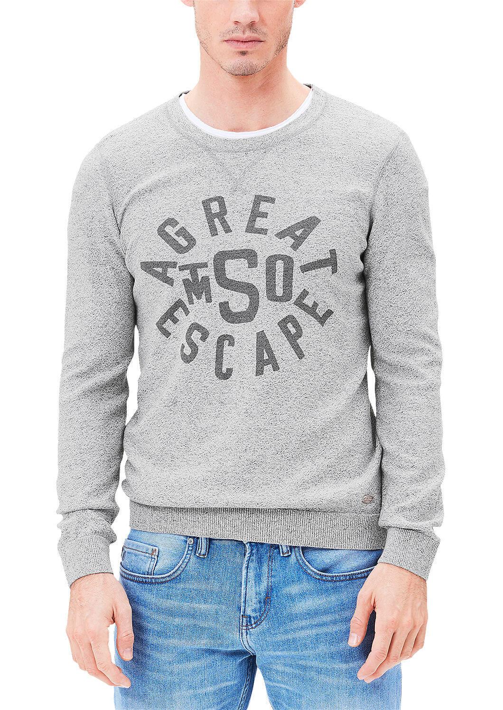 9bd1822b5ceb S.Oliver Pánsky šedý sveter s nápismi