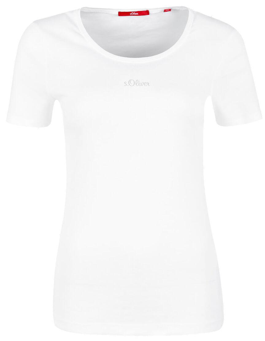 7c833f92e753 S.Oliver Dámske tričko 04.899.32.4306.0100 White