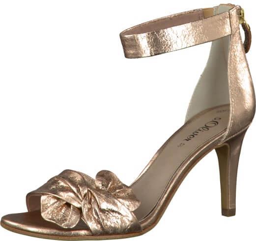 Oliver Elegantní dámské páskové boty Textile Rose Metallic 5-5-28350-38-519 d0746fb724