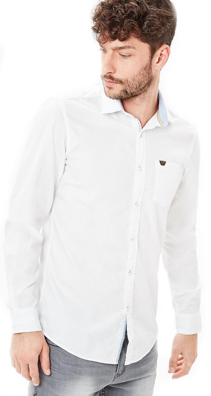 S.Oliver Pánská bílá košile Slim Fit s dlouhým rukávem  d954f4a183