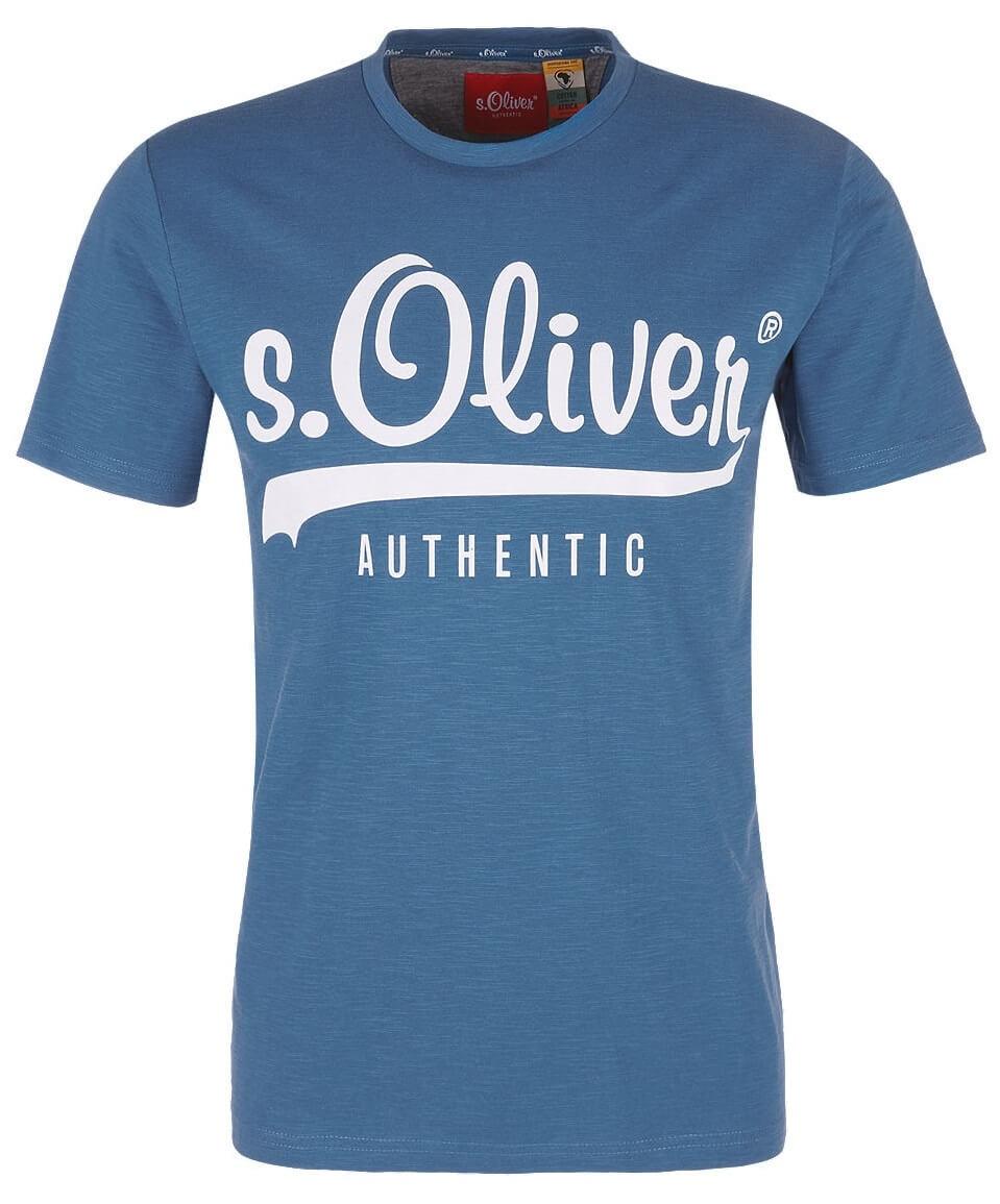 S.Oliver Pánské triko 13.902.32.4261.5488 Postcard Blue  ab6d7c72b2