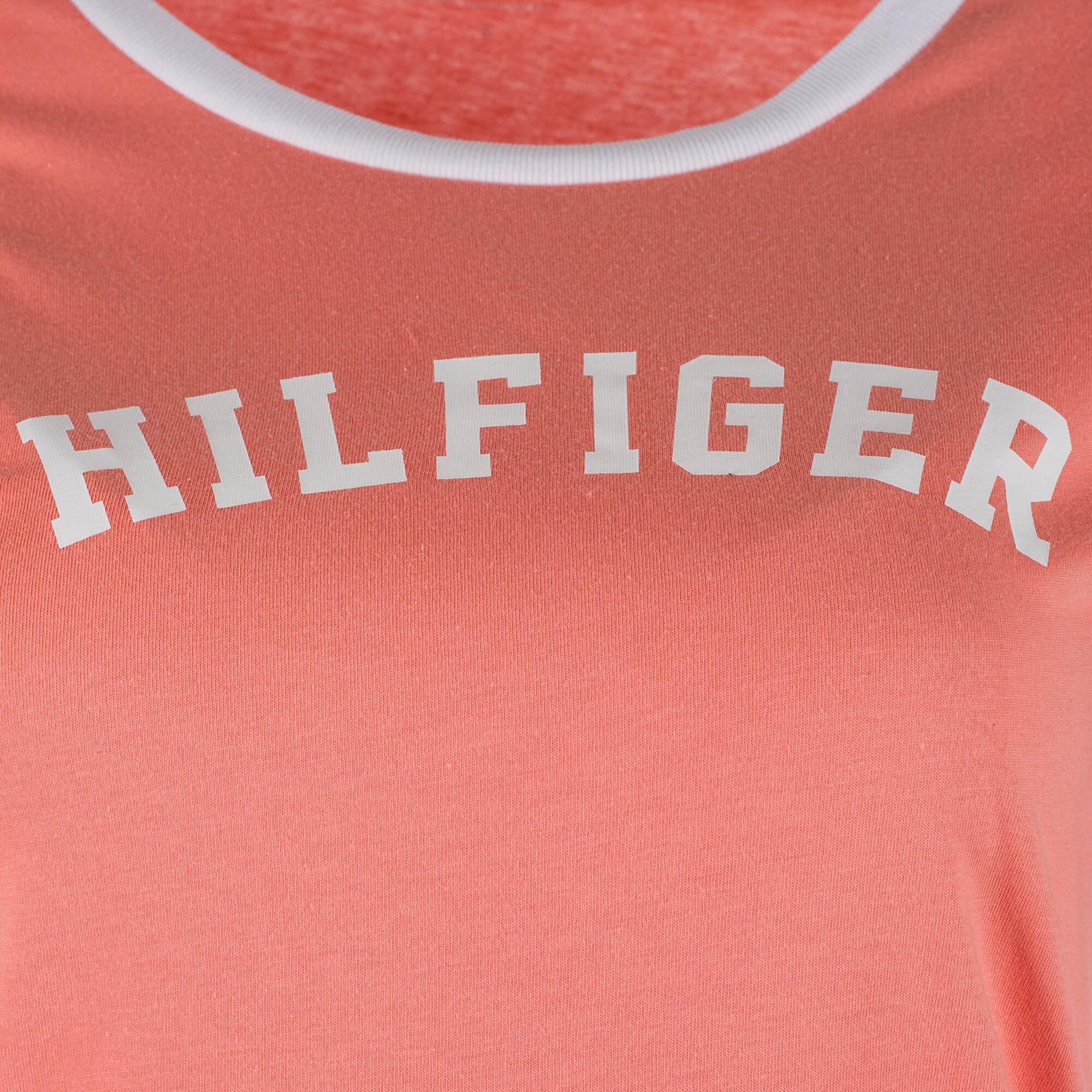 30a007cc74 Tommy Hilfiger Dámské triko Ss Tee Print UW0UW00091-661 Light orange.  Předchozí  Další
