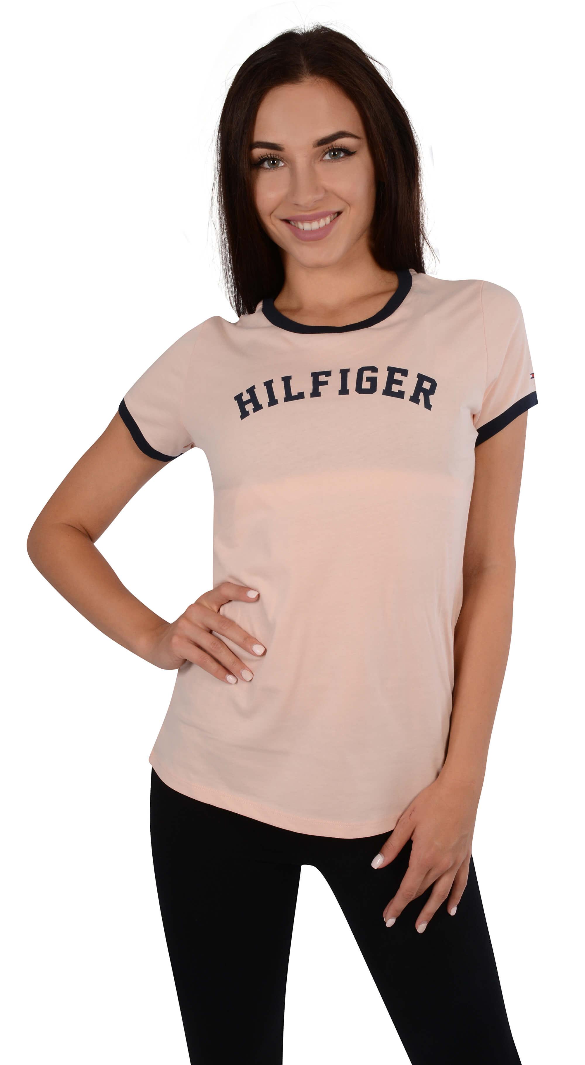 f556ac55810 Tommy Hilfiger Dámské triko Bold Cotton Iconic Ss Tee Print Pale ...