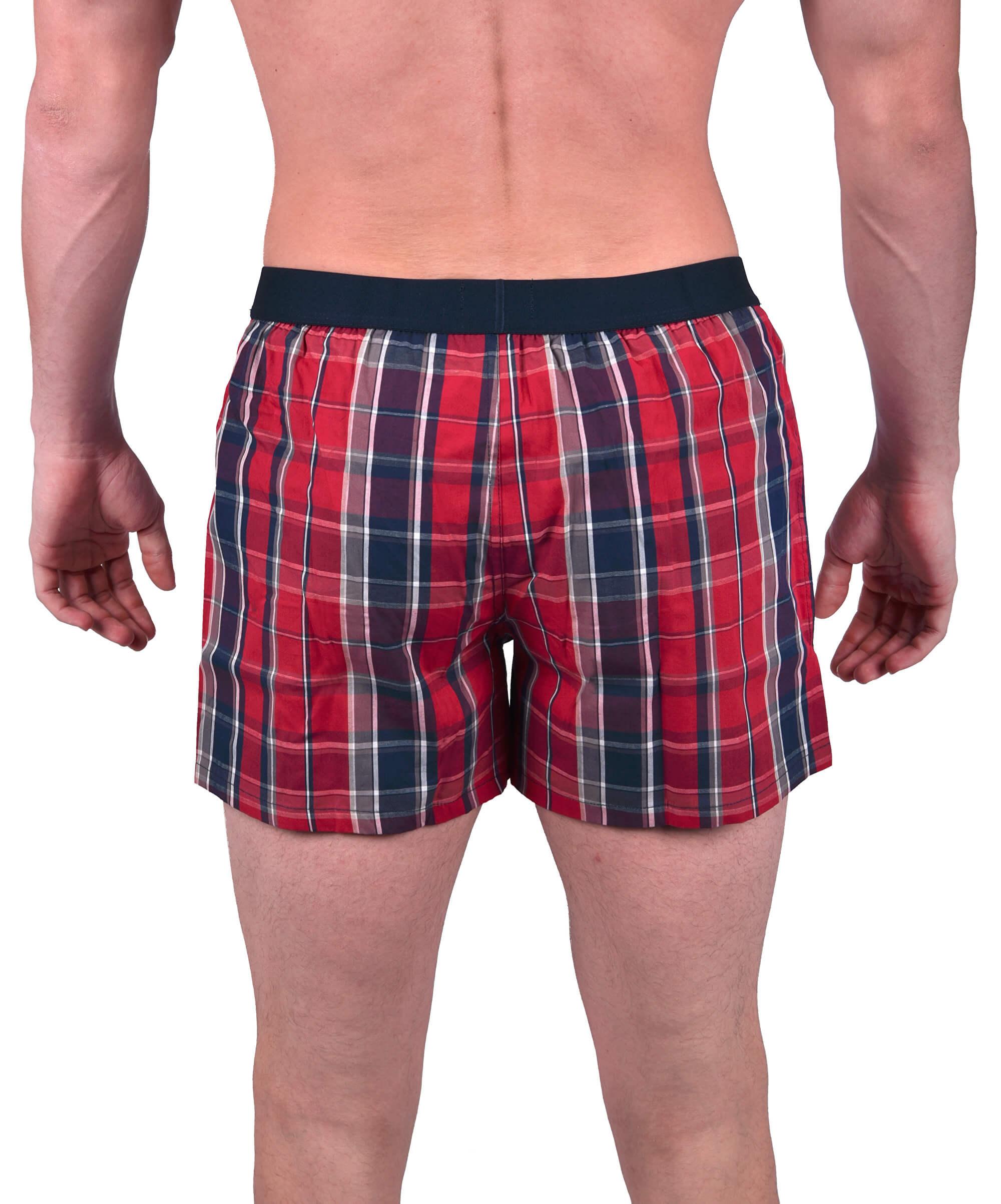 Tommy Hilfiger Pánske trenky Cotton Icon Woven Boxer Check 3 Deep ... 0baaf4af087