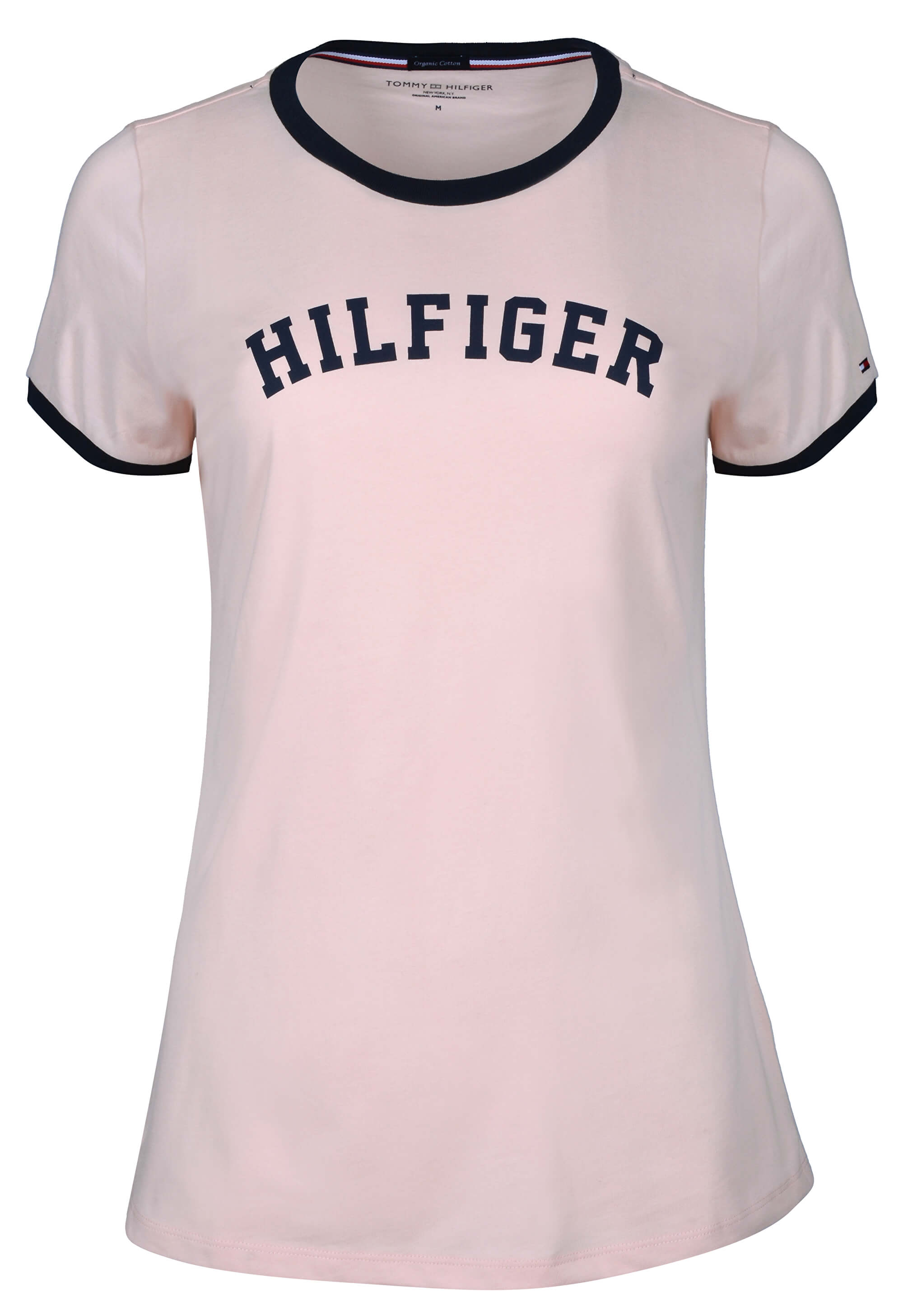 Tommy Hilfiger Dámske tričko Bold   Cotton Icon ic Ss Tee Print Pale Blush  UW0UW00091 - 1528293c3f1