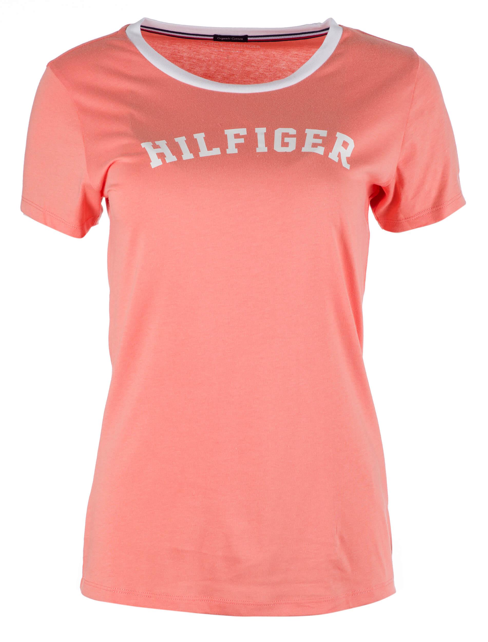 d9d60457cd Tommy Hilfiger Dámské triko Ss Tee Print UW0UW00091-661 Light orange ...