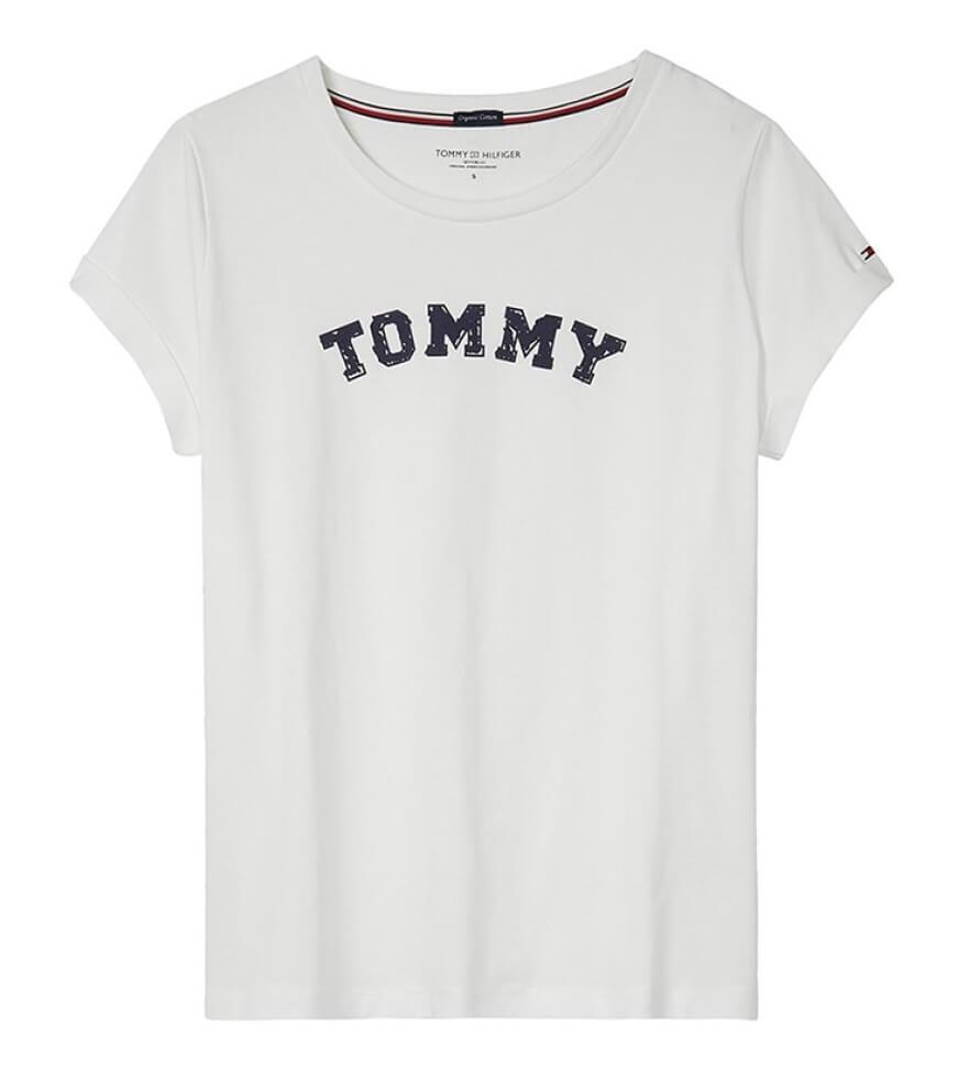 Tommy Hilfiger Dámske tričko Varsity Cn Tee Ss Logo White UW0UW01315 ... fc6ace6ffe8