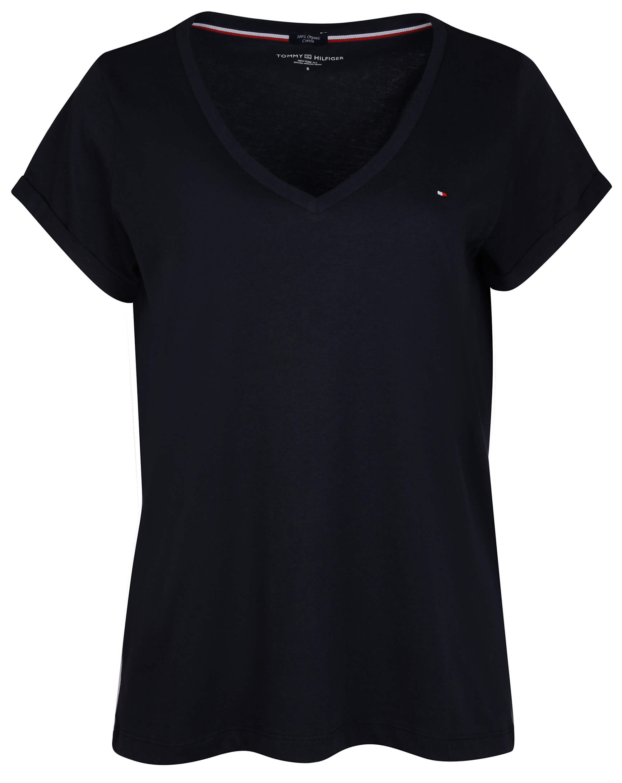Tommy Hilfiger Dámske tričko Vn Tee Ss Navy Blazer UW0UW00676-416 ... b2ff8d439e5