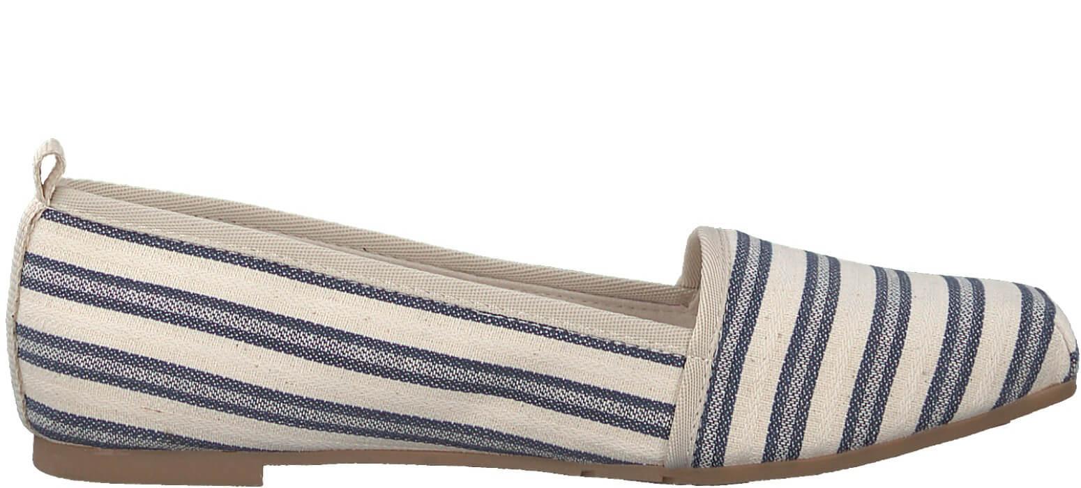 a5197dc750 Tamaris Elegáns női cipő 1-1-24668-28 Navy Stripes Akcióban. Előző  <Következő >