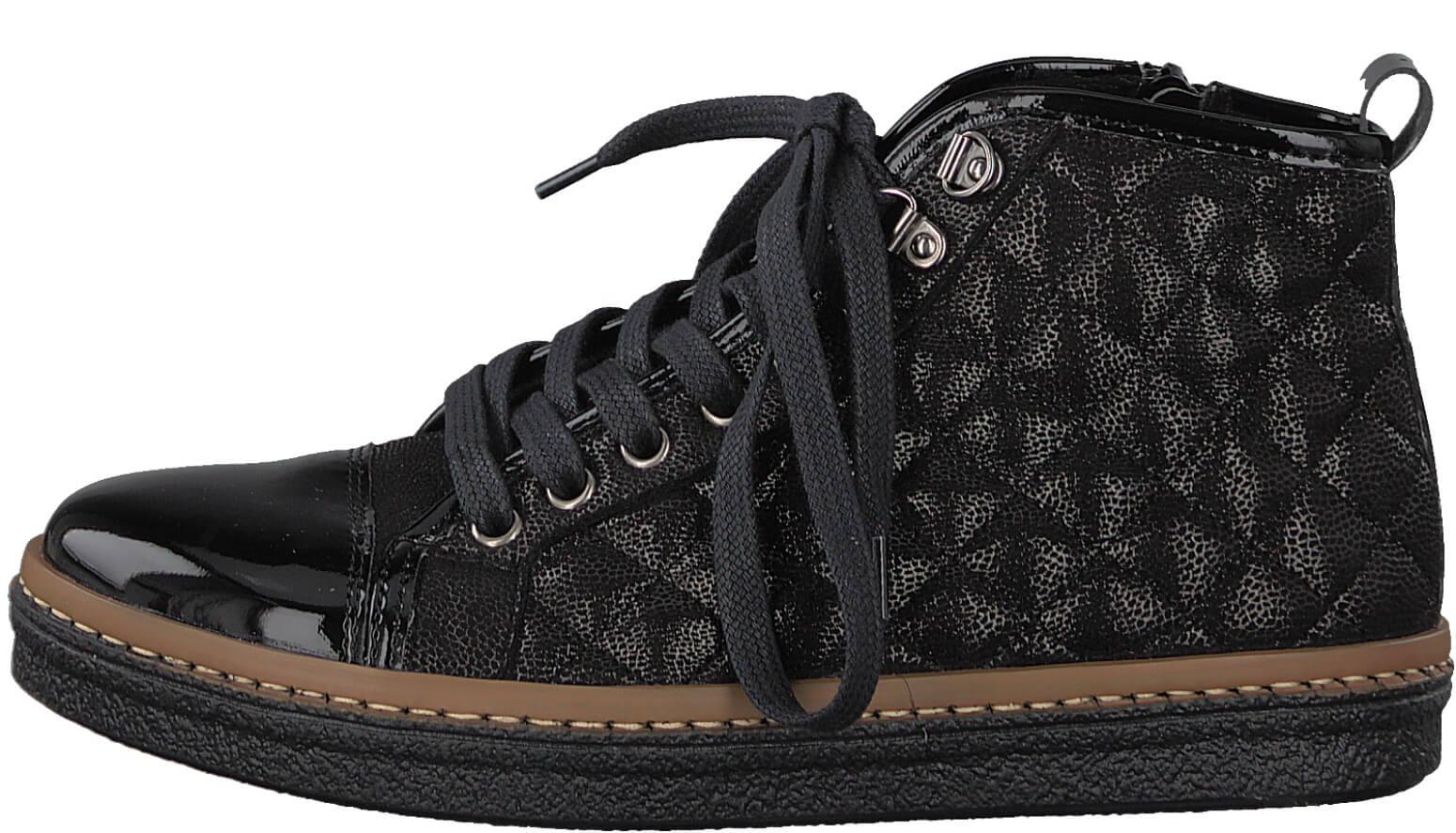 Tamaris Elegantní dámské kotníkové boty 1-1-25725-39-098 Black Comb ... fac47b1848