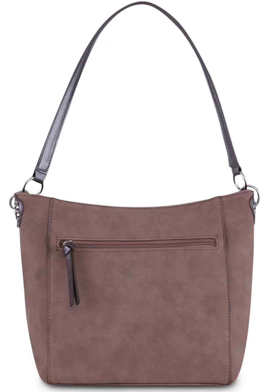Tamaris Női kézitáska Olympia Hobo Bag S 2894182-395 Dark Brown Comb ... b1e51d2576