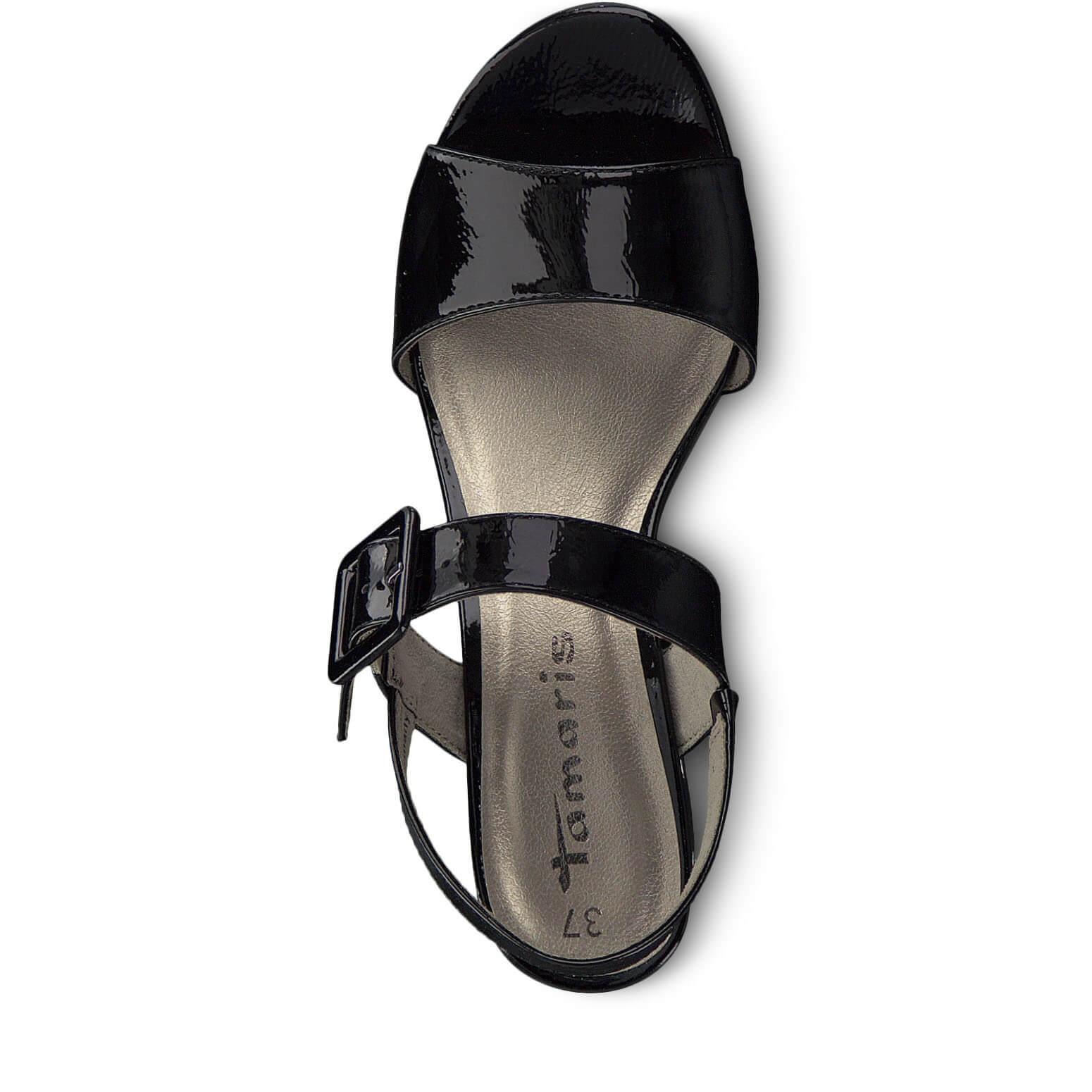 f334455378 Tamaris Dámské sandále 1-1-28211-22-018 Black Patent Novinka. Předchozí   Další
