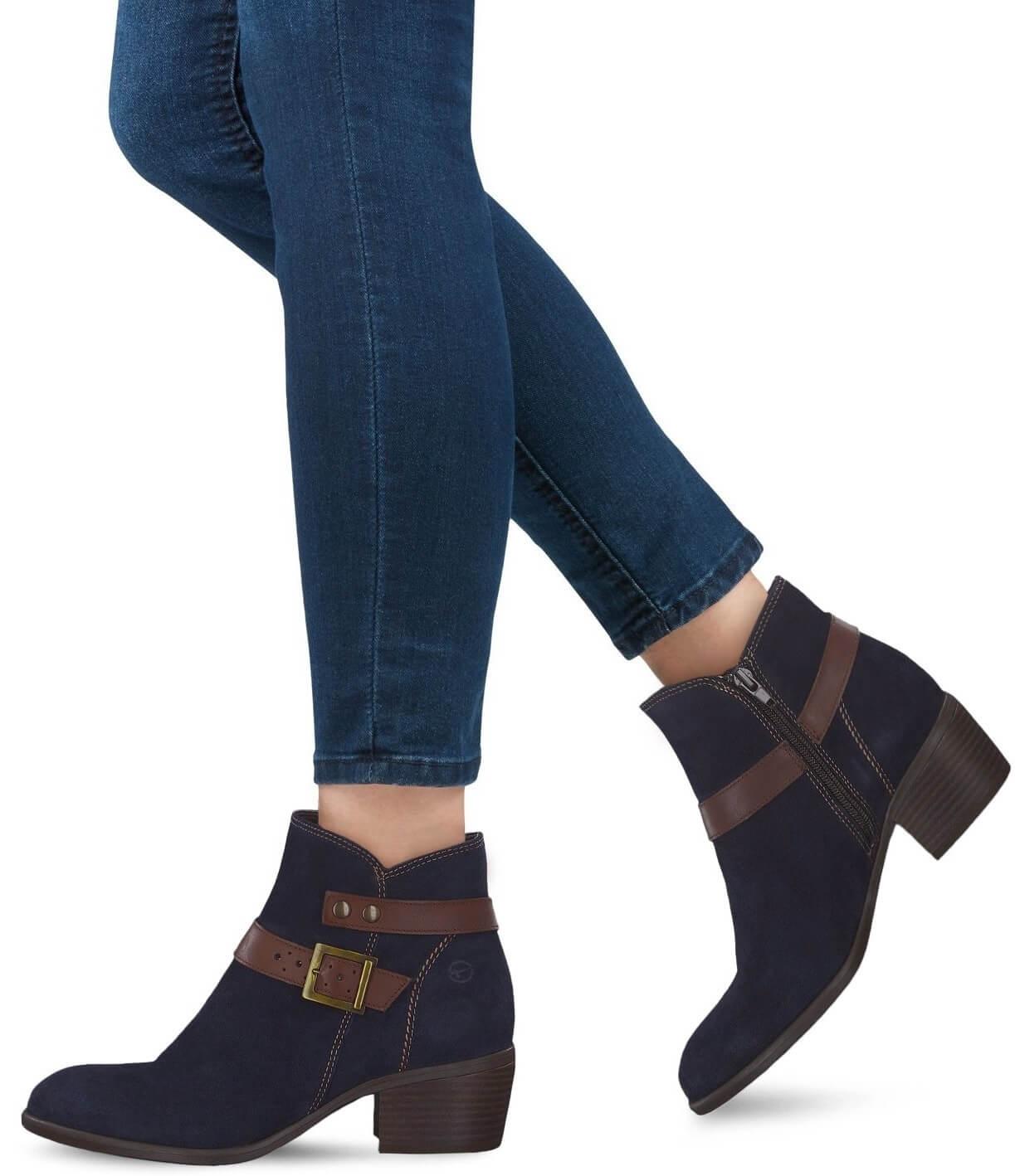 Tamaris Elegantní dámské kotníkové boty 1-1-25010-21-833 Navy  V akci.  Předchozí  Další   131997d45f