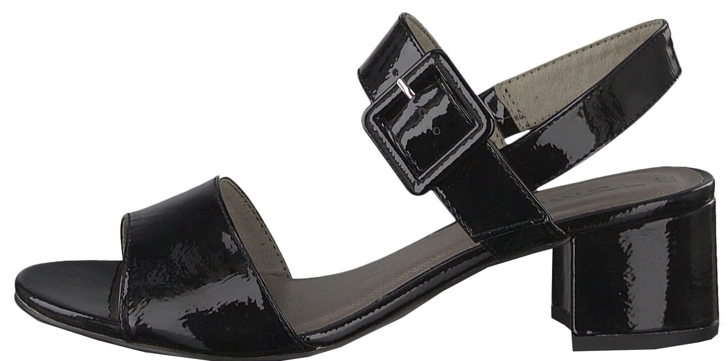 08c5339cda Tamaris Dámské sandále 1-1-28211-22-018 Black Patent