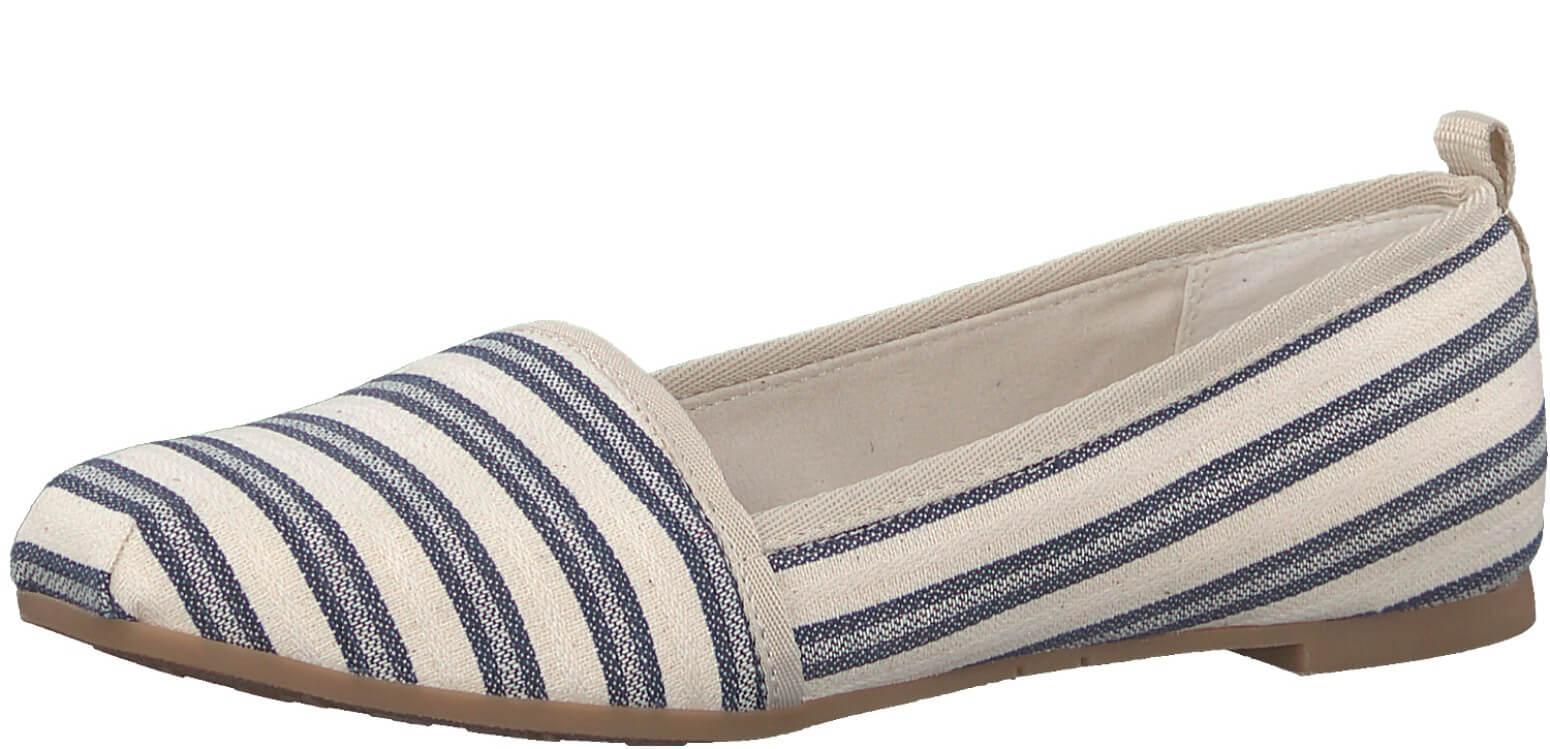 10d0df3615 Tamaris Elegáns női cipő 1-1-24668-28 Navy Stripes | Vivantis.hu ...
